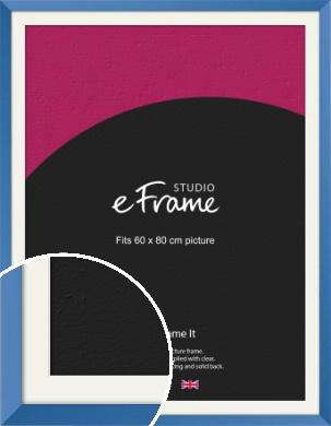 Calming Blue Picture Frame & Mount, 60x80cm (VRMP-768-M-60x80cm)