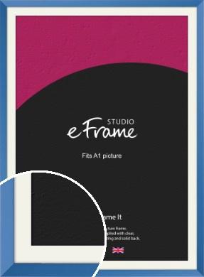 Calming Blue Picture Frame & Mount, A1 (594x841mm) (VRMP-768-M-A1)