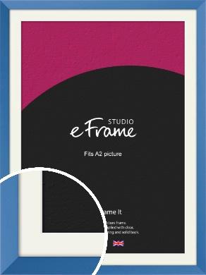 Calming Blue Picture Frame & Mount, A2 (420x594mm) (VRMP-768-M-A2)