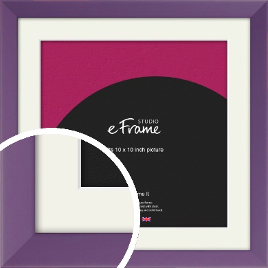 Classic Purple Picture Frame & Mount, 10x10