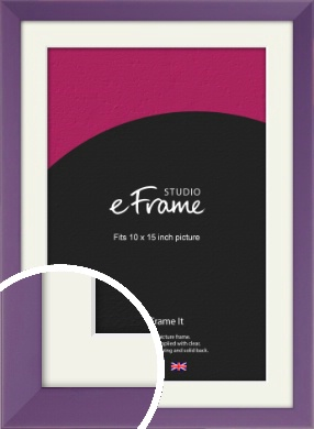 Classic Purple Picture Frame & Mount, 10x15