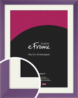 Classic Purple Picture Frame & Mount, 12x16