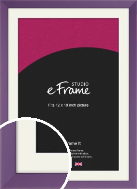 Classic Purple Picture Frame & Mount, 12x18