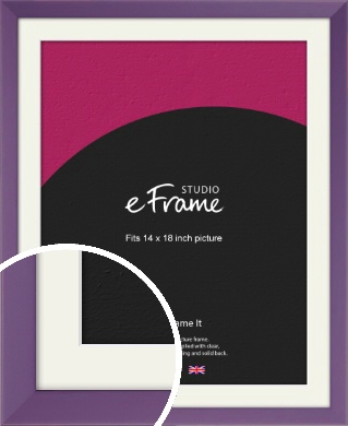 Classic Purple Picture Frame & Mount, 14x18