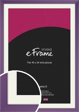 Classic Purple Picture Frame & Mount, 16x24