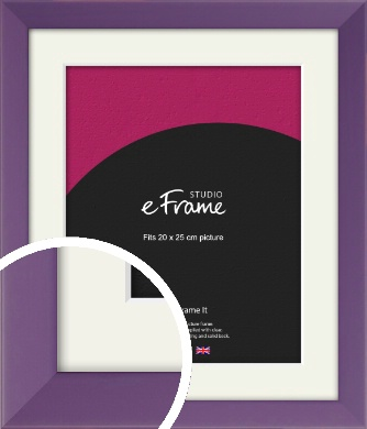 Classic Purple Picture Frame & Mount, 20x25cm (8x10