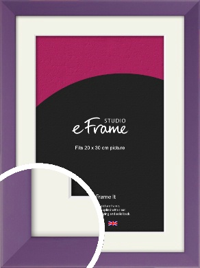Classic Purple Picture Frame & Mount, 20x30cm (8x12