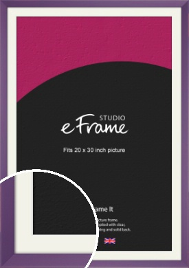 Classic Purple Picture Frame & Mount, 20x30