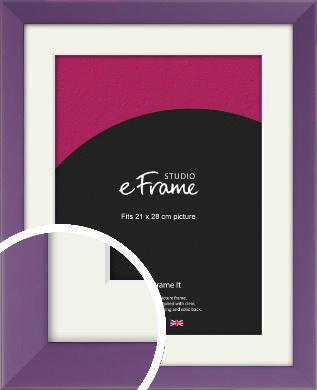 Classic Purple Picture Frame & Mount, 21x28cm (VRMP-755-M-21x28cm)