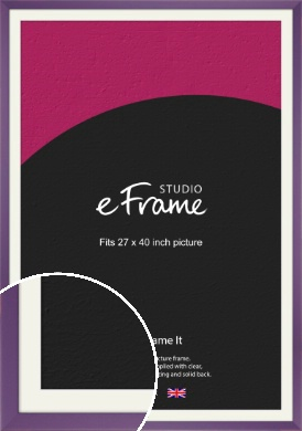 Classic Purple Picture Frame & Mount, 27x40