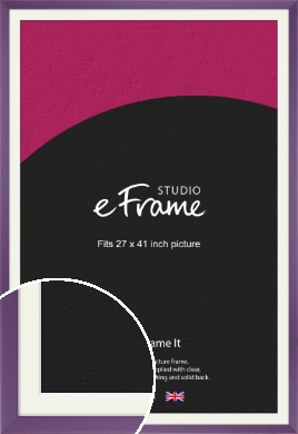 Classic Purple Picture Frame & Mount, 27x41