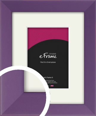 Classic Purple Picture Frame & Mount, 3.5x5