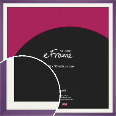 Classic Purple Picture Frame & Mount, 30x30