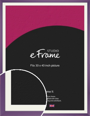 Classic Purple Picture Frame & Mount, 30x40