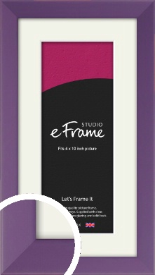 Classic Purple Picture Frame & Mount, 4x10
