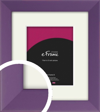 Classic Purple Picture Frame & Mount, 4x5