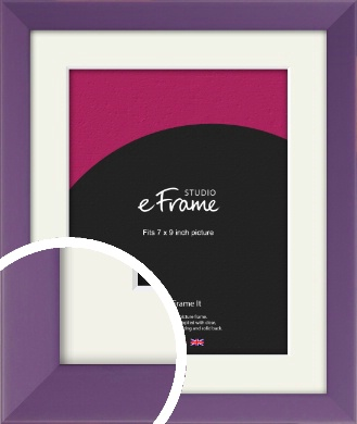 Classic Purple Picture Frame & Mount, 7x9