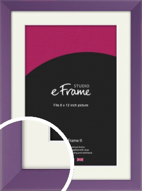Classic Purple Picture Frame & Mount, 8x12