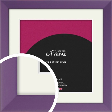 Classic Purple Picture Frame & Mount, 8x8
