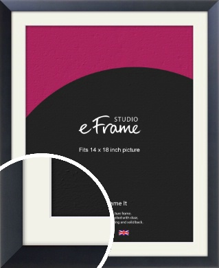 Simple Midnight Blue Picture Frame & Mount, 14x18