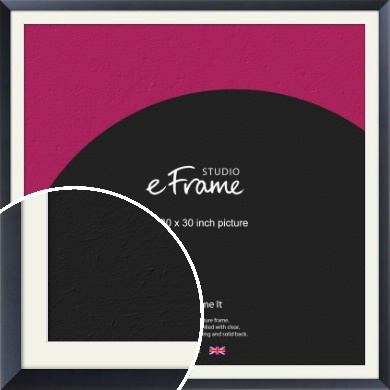 Simple Midnight Blue Picture Frame & Mount, 30x30