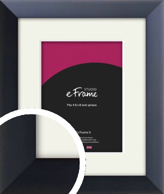 Simple Midnight Blue Picture Frame & Mount, 4.5x6