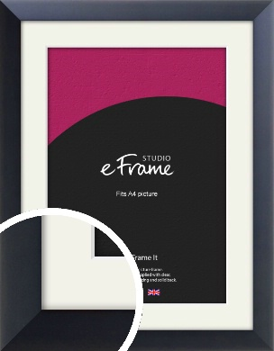 Simple Midnight Blue Picture Frame & Mount, A4 (210x297mm) (VRMP-766-M-A4)