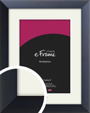 Simple Midnight Blue Picture Frame & Mount, A5 (148x210mm) (VRMP-766-M-A5)