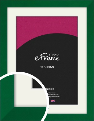 Basil Green Picture Frame & Mount, A4 (210x297mm) (VRMP-839-M-A4)