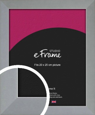 Clean Alloy Effect Silver Picture Frame, 20x25cm (8x10