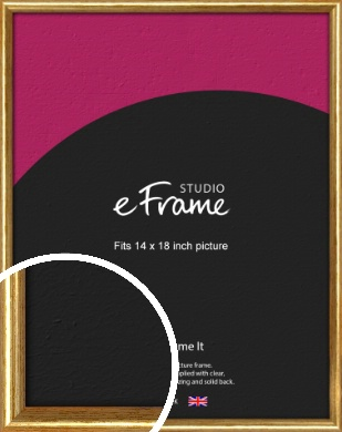 Antique Gold Picture Frame, 14x18