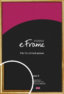 Antique Gold Picture Frame, 16x24