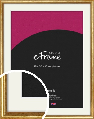 Antique Gold Picture Frame & Mount, 30x40cm (VRMP-124-M-30x40cm)