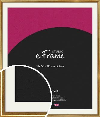 Antique Gold Picture Frame & Mount, 50x60cm (VRMP-124-M-50x60cm)