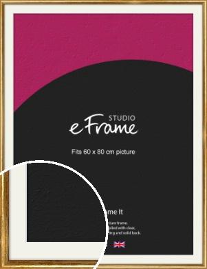 Antique Gold Picture Frame & Mount, 60x80cm (VRMP-124-M-60x80cm)