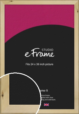 Beachwood Natural Wood Picture Frame, 24x36