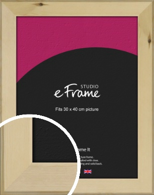 Beachwood Natural Wood Picture Frame, 30x40cm (VRMP-842-30x40cm)