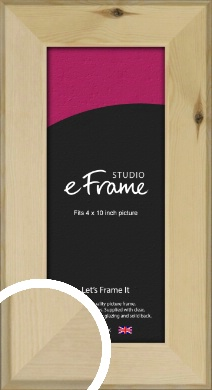 Beachwood Natural Wood Picture Frame, 4x10