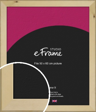 Beachwood Natural Wood Picture Frame, 50x60cm (VRMP-842-50x60cm)