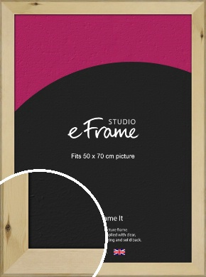 Beachwood Natural Wood Picture Frame, 50x70cm (VRMP-842-50x70cm)