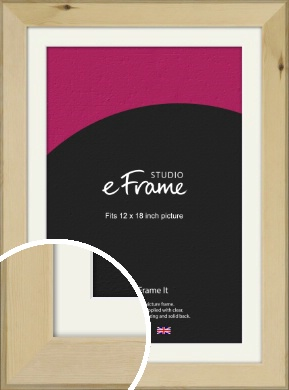 Beachwood Natural Wood Picture Frame & Mount, 12x18