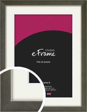 Anchor Silver Picture Frame & Mount, A4 (210x297mm) (VRMP-844-M-A4)