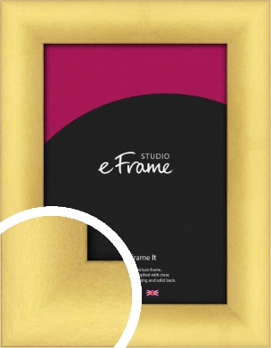 Welcoming Crosshatch Gold Picture Frame (VRMP-845)