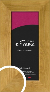 Country Farmhouse Brown Picture Frame, 4x10