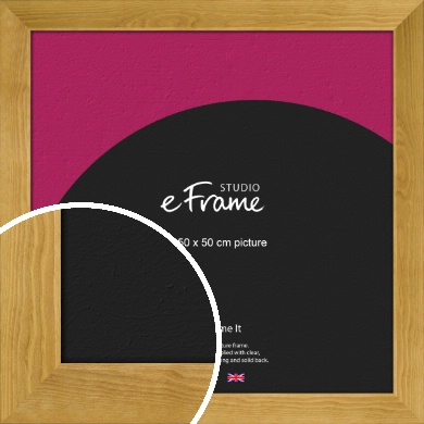 Country Farmhouse Brown Picture Frame, 50x50cm (VRMP-847-50x50cm)