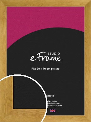 Country Farmhouse Brown Picture Frame, 50x70cm (VRMP-847-50x70cm)