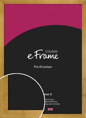 Country Farmhouse Brown Picture Frame, A0 (841x1189mm) (VRMP-847-A0)