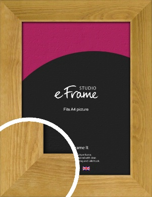 Country Farmhouse Brown Picture Frame, A4 (210x297mm) (VRMP-847-A4)