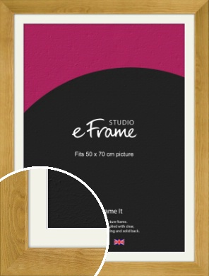Country Farmhouse Brown Picture Frame & Mount, 50x70cm (VRMP-847-M-50x70cm)