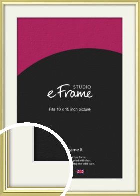 Contemporary Gold Picture Frame & Mount, 10x15